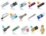 Gift (ED075)를 위한 Logo 주문을 받아서 만들어진 Metal USB Flash Drive