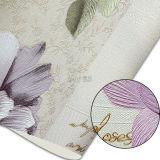 Motif floral de papier peint gaufré profonde en PVC