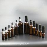 Botella de aceite de vidrio esmerilado con caída de la plata para Cosmética, Frasco gotero (NBG01B)