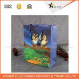 工場はハンドルが付いている熱い販売の紙袋をカスタム設計する