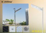 Einteiliges integriertes Straßenlaternedes Telefon APP-SteuerSonnenkollektor-LED
