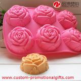 Kundenspezifische 6 Kammer-Blumen-Muster-Silikon-Pfannkuchen-Form