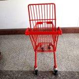 4つの車輪の小さいスーパーマーケットの買物車はカートをからかう