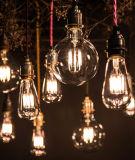 Bulbo largo transparente del filamento del LED Gloden 85-265V G80 6W