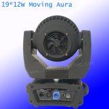 19*12W RGBW 4in1 Mehrfarbenbewegliches Hauptbewegliches Hauptlicht des summen-LED des träger-LED