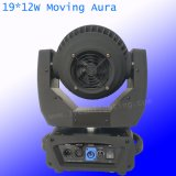 19*12W RGBW 4in1 다색 급상승 LED 이동하는 맨 위 광속 LED 이동하는 맨 위 빛