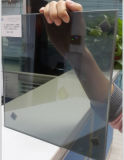 5mm claro cristal reflectante+0.38mm azul océano PVB+5mm claro Vidrio Laminado Vidrio Flotado