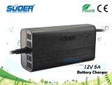 Carregador de bateria portátil universal do carro do preço 12V 5A de Suoer baixo mini (SON-1205B)