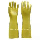 Долго ПВХ водонепроницаемые перчатки домашних хозяйств