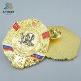Kundenspezifisches Zink-Legierungs-Goldsicherheits-Firmenzeichen-Decklack-Metallabzeichen
