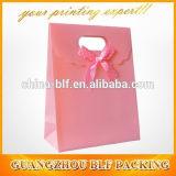 Achats personnalisés de sac de cadeau de papier de bande de proues