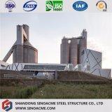 시멘트 플랜트 발전소를 위한 무거운 Prefabricated 강철 구조물