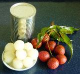 As conservas de frutas frescas de lichia alimentos do preço de fábrica