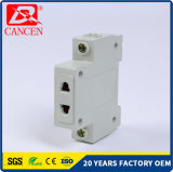 Socketes modulares del carril del estruendo AC30 un corta-circuito de la aprobación MCCB MCB RCCB de RoHS de poste y del Ce 10-16AMP