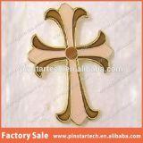 La fábrica vende al por mayor la divisa de encargo cruzada del Pin de Jesús del oro