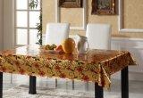 Tablecloth impresso PVC gravado do projeto ouro Papular