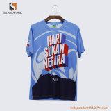 T-shirt promotionnel bon marché personnalisé en gros de T-shirt de logo d'impression