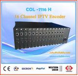 Col7116h Equipamento Headend DTV HDMI 16 canais H. 264 Codificador IPTV