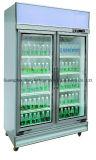refrigerador de cristal vertical comercial de la puerta del refresco 1000L