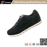 Мужской черный велюр обувь из натуральной кожи