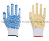 Перчатки хлопка работы безопасности работы многоточий PVC защитные