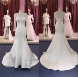 Robe de mariage nuptiale de longue de chemise sirène de satin Wgf184