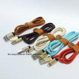 Neue Art-Geschwindigkeits-lederne aufladendatenleitung magnetisches USB-Kabel
