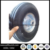 팽창식 트롤리는 외바퀴 손수레 3.50-4를 위한 압축 공기를 넣은 고무 바퀴를 선회한다