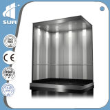 زجاجيّة و [ستينلسّ ستيل] مقصور بناية تجاريّة يستعمل مصعد