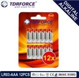 BSCI (LR6-AA 12PCS)の1.5Vデジタルのアルカリ電池の乾電池