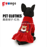 Cão de fornecimento de produtos da saia vestido de férias de Inverno Roupas Pet
