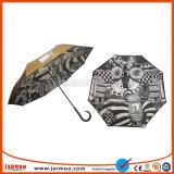 Guarda-chuva dobrável de alta qualidade com o logotipo personalizado impresso