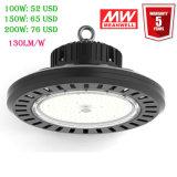 ULのセリウムSAA LED内部のHighbayの照明130lm/W 100With150With200W倉庫5年の保証が付いている産業UFO LED高い湾ライト