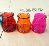 Окраска цвета со стеклянным кувшином для свечи