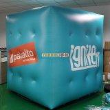 0.18mm Ballon van het Helium van pvc de Opblaasbare Kubieke voor Bevordering