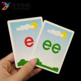 アルファベットの個人化された印刷された子供の教育フラッシュカード