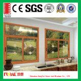 Horizontales schiebendes Fenster mit dem Schärpe-Schieben link oder recht