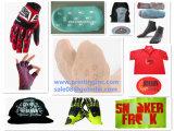Silikon-Marken-Kennsatz-formenmaschine auf T-Shirt und Handschuhe und Schuhe