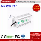 Fonte de alimentação impermeável IP67 do interruptor do diodo emissor de luz da tensão constante 12V 60W