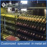 Vente en gros Customized High-End Rose Gold Wine Cellar Cabinet pour bar / KTV