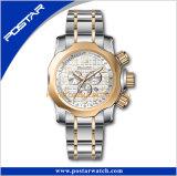 Edelstahl-Kasten-Uhr-vorhandene Form-Armbanduhrshenzhen-Fabrik
