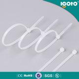 Matériau en nylon et type auto-bloqueur crochet et relations étroites en bloc en plastique de fermeture éclair de serres-câble de boucle