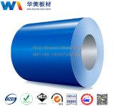 Bobina de aço Prepainted do soldado ou PPGI ou tamanho padrão galvanizado revestido cor da folha do metal da chapa de aço na bobina de China