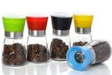 Sal y pimienta Molinillo molinillo de pimienta de vidrio/// molino de especias de vidrio Molino de sal de cristal