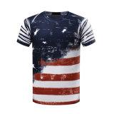 OEM 남자 t-셔츠를 인쇄하는 관례에 의하여 인쇄되는 면 t-셔츠 3D 승화