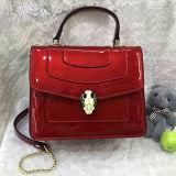 Sacchetto di spalla delle signore del cuoio genuino delle borse del progettista dell'accumulazione della molla Emg4586