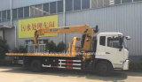 4X2レッカー車はトラックの価格と望遠鏡クレーン6トンの取付けた
