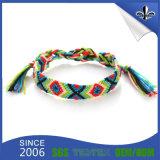 Bracelet tissé par festival bon marché fait sur commande de polyester pour Evets