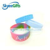 Progettare i Wristbands per il cliente turbinati del silicone per la promozione