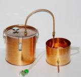 Di alcoolici 10L/3gal dell'alcool del distillatore della caldaia del POT creatore di vino di rame all'ingrosso della strumentazione di distillazione ancora con il termometro